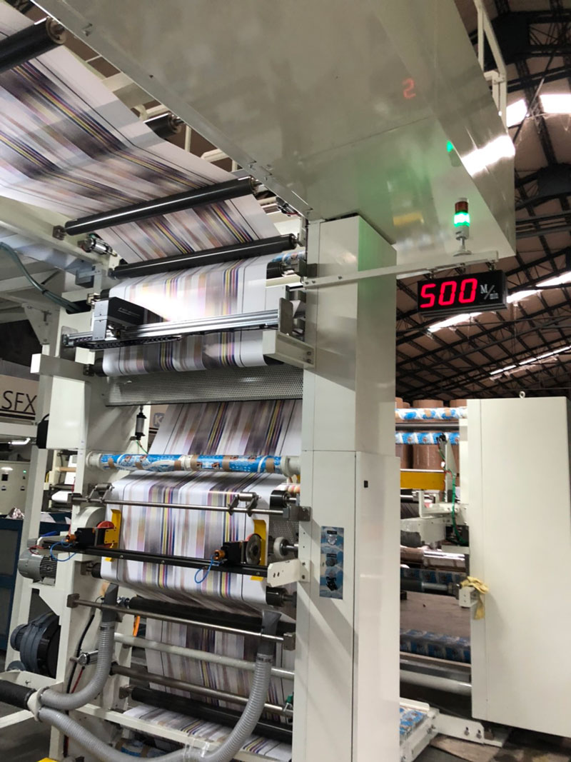Four-color High-speed Plate Replacement Flexographic Printing Press